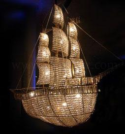 لوستر بزرگ مدل کشتی