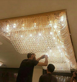 لوستر سقفی هتل و تالار سپیده