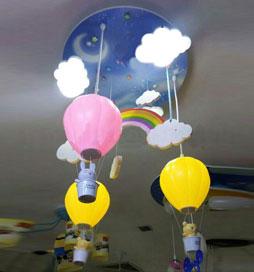 لوستر کودک بالن و رنگین کمان
