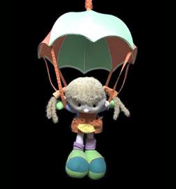 لوستر اتاق کودک دختر چترسوار