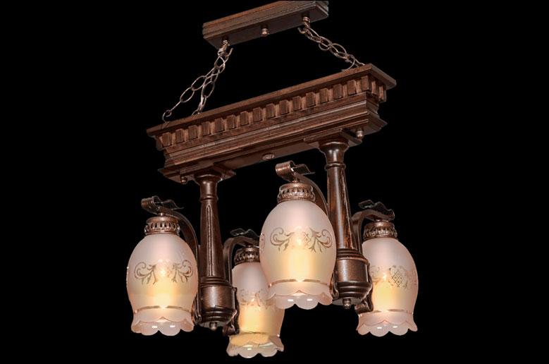 لوستر چوبی-4003-4(تخت جمشید)