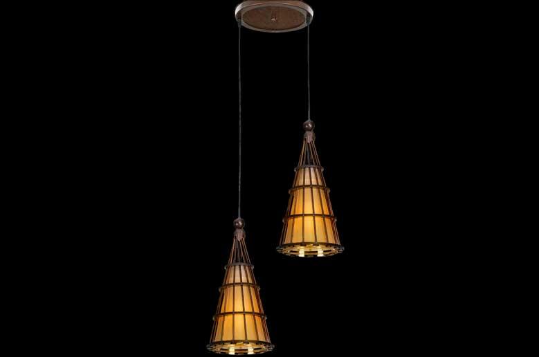 آویز چوبی دوشعله-ملیکا
