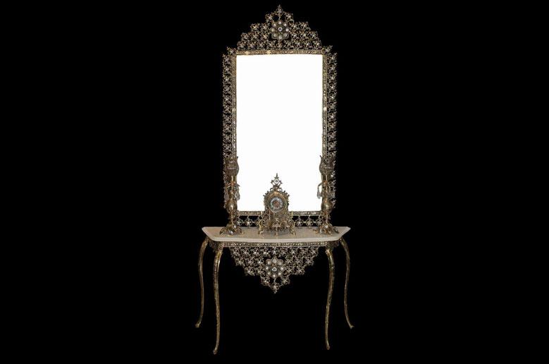 آینه شمعدان یاس