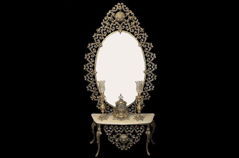 آینه شمعدان قلبی