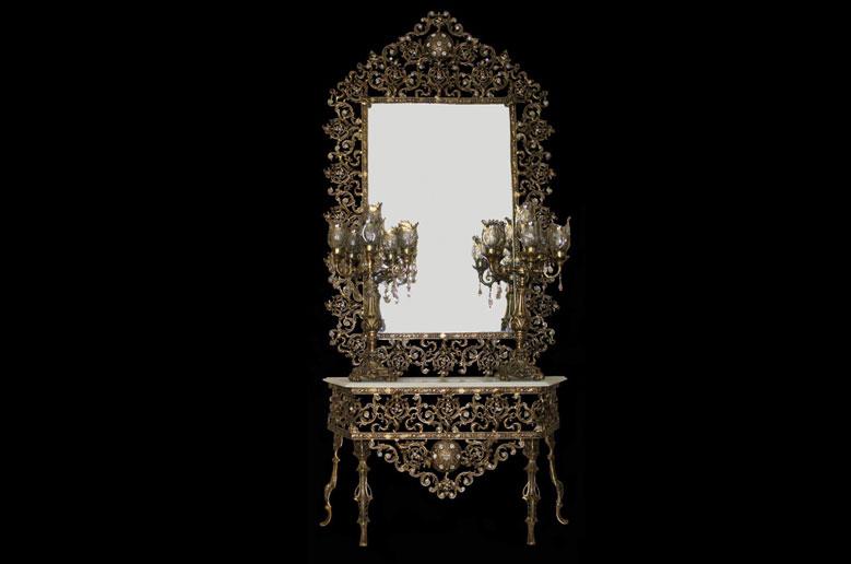 آینه شمعدان یاسمن