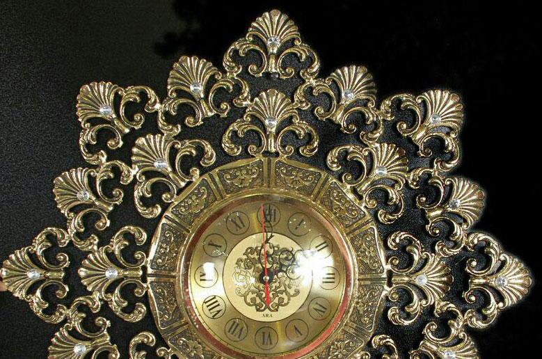 ساعت-دیواری-انتیک-مدل-ارکیده