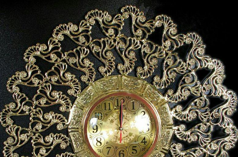 ساعت-دیواری-انتیک-مدل-افتابگردان