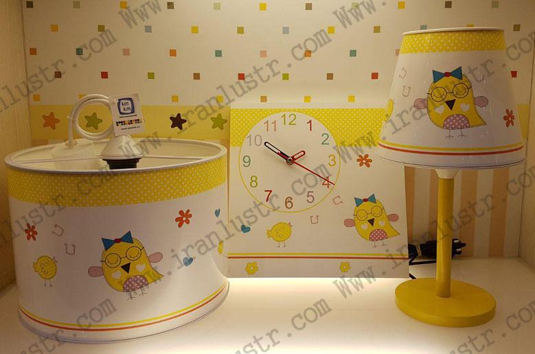 ست-اتاق-کودک-مدل-جغد-زرد