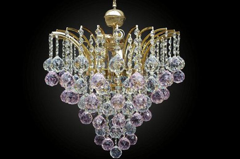 لوستر کریستالی شفق crystal luster t40