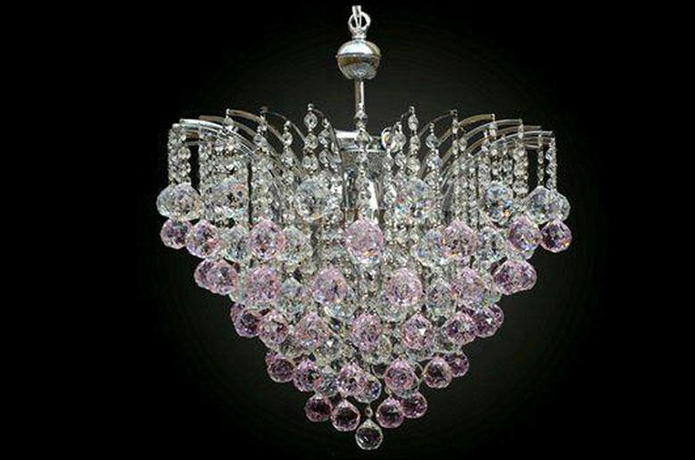 لوستر کریستالی شفق سیلور-سایز-50