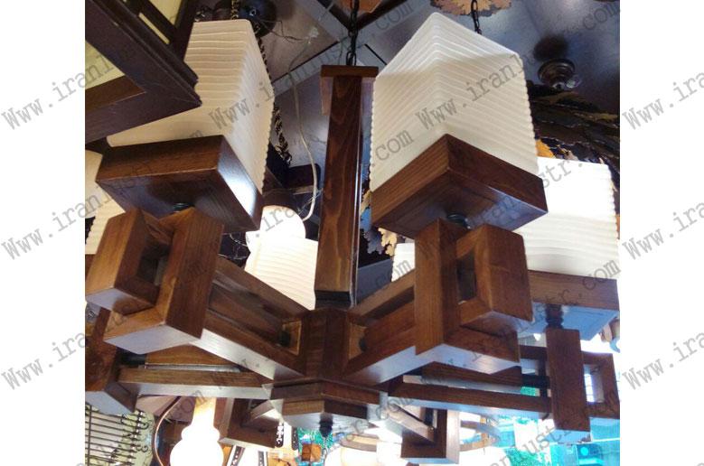 لوستر-چوبی-5021-شش-شاخه