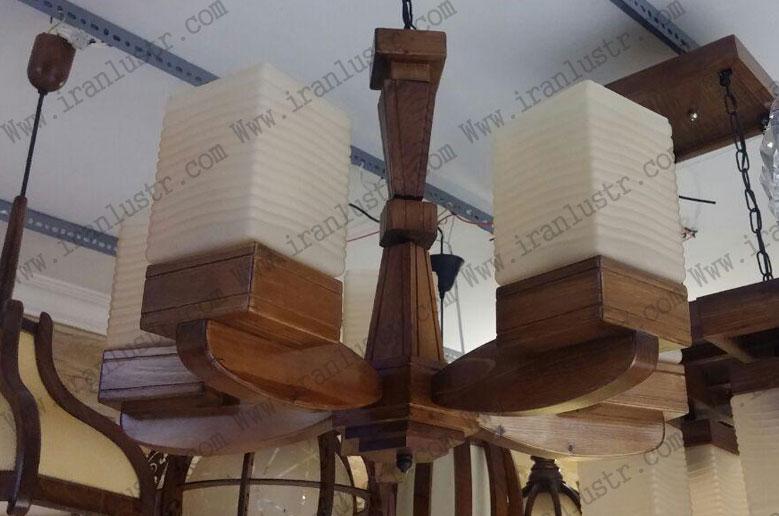 لوستر-چوبی-5023-6-شاخه