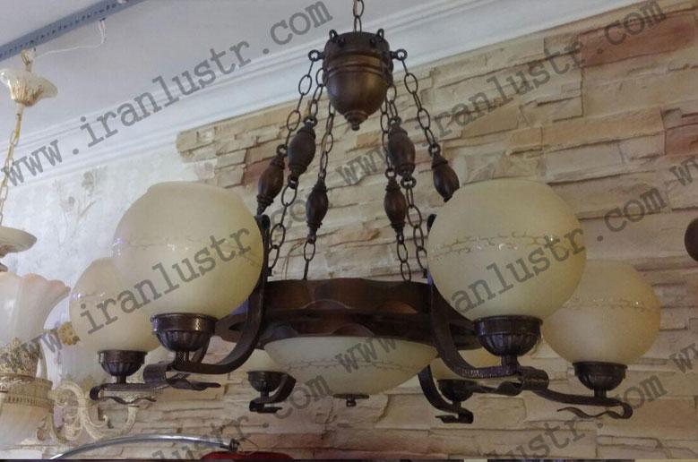لوستر چوبی 4006 شش شاخه(رومی دارکار)