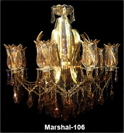 لوستر کلاسیک شاخه مارشال 106