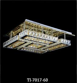 لوستر سقفی کریستالی مدرن 7017 سایز 60