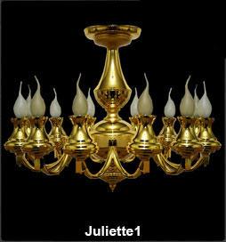 لوستر شاخه ای کلاسیک ژولیت طلایی