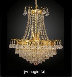 لوستر کریستالی نگین طلایی سایز 60