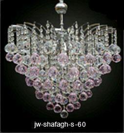 لوستر کریستالی شفق سیلور سایز 60