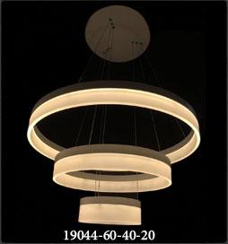 چراغ آویز مدرن 19044 با قطر 60 و 40 و 20