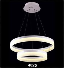 چراغ آویز مدرن 4025 قطر 60 و 40 مهتابی