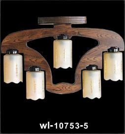 لوستر چوبی 10753 پنج شعله