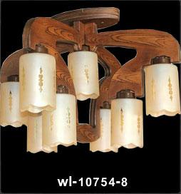 لوستر چوبی 10754 نه شعله