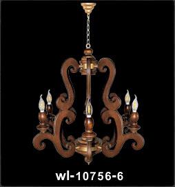لوستر چوبی 10756 پنج شعله