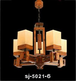 لوستر چوبی پادرا شش شاخه مدل رکسانا