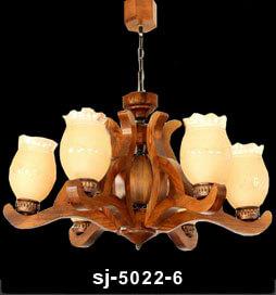 لوستر-چوبی-5022-شش-شاخه(شیدا)