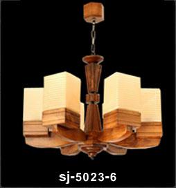 لوستر چوبی 5023 پنج شاخه(تینا)
