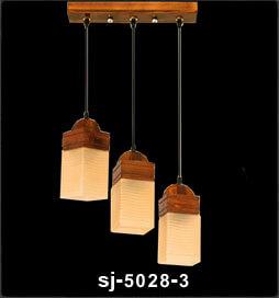 آویز چوبی پادرا سه شعله مدل تینا