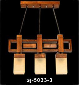 لوستر چوبی پادرا سه شعله خطی مدل رکسانا