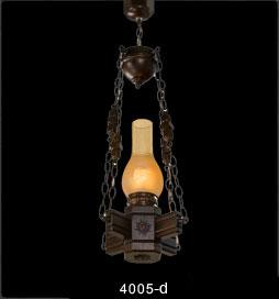 لوستر چوبی 4005 تک شعله(روستیک دارکار)