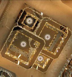 لوستر سقفی مدرن کریستالی سلما چهار مربع