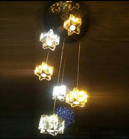 چراغ آویز مدرن شش ستاره