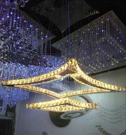 چراغ آویز مدرن کریستالی سیامک