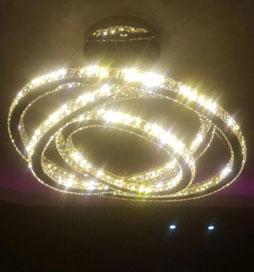 چراغ آویز مدرن 8103 سه حلقه با قطر بزرگ 100 سانتیمتر