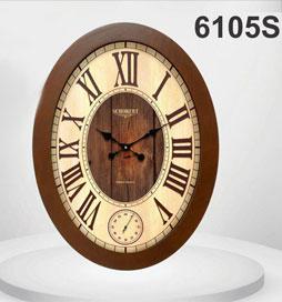 ساعت دیواری چوبی بیضی 6105 -S
