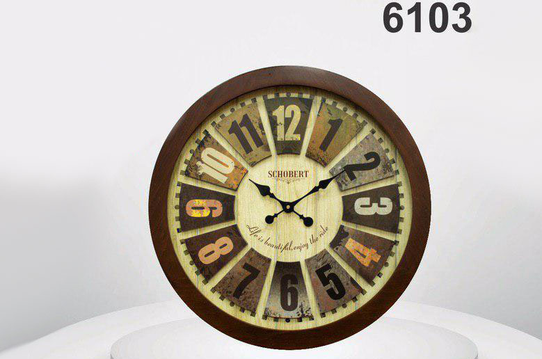 ساعت دیواری چوبی 6103