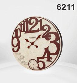 ساعت دیواری چوبی 6211