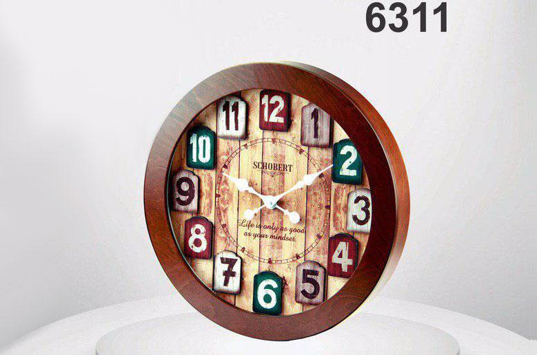 ساعت دیواری چوبی 6311