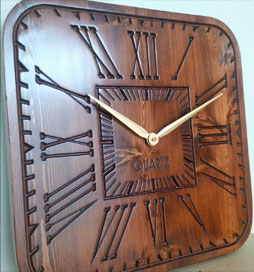 ساعت دیواری چوبی امستردام