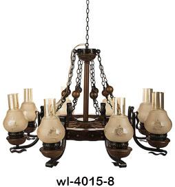 لوستر چوبی 4015 هشت شاخه (ویل دارکار)