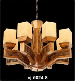 لوستر چوبی 5024 هشت شاخه(پانیذ)