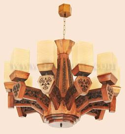 لوستر چوبی پادرا 10 شاخه مدل بنیتا