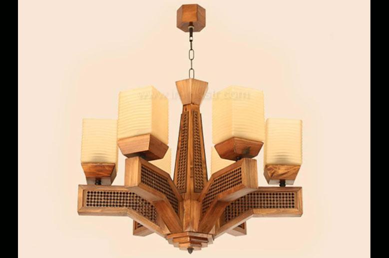 لوستر-چوبی-5024-شش-شاخه