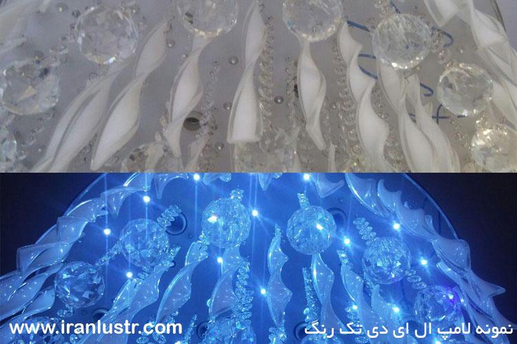 نمونه لامپ ال ای دی روی لوستر