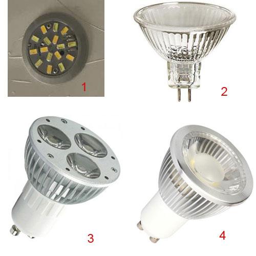 انواع لامپ مورد استفاده در لوستر ریسه ای