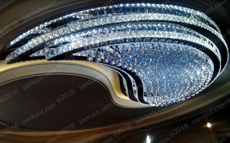 نمونه لوستر سقفی مدرن در ابعاد بزرگ تولید شده توسط ایران لوستر