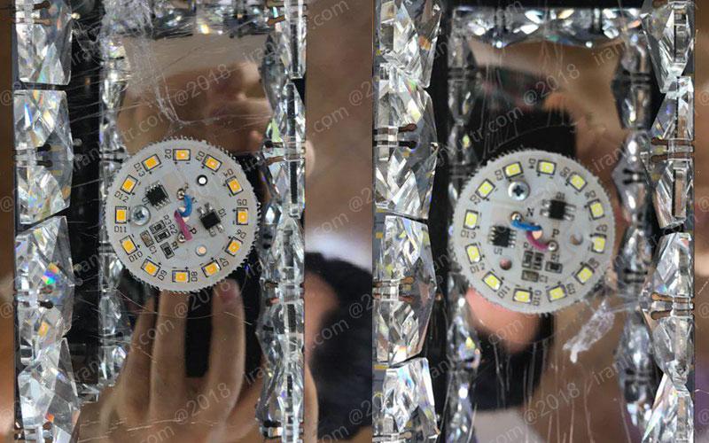 لامپ اس ام دی سکه ای آفتابی و مهتاب برای لوستر سقفی مدرن